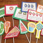 Very Hungry Printable Party Toppers