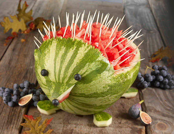 Watermelon Hedgehod- so cute for a woodland party