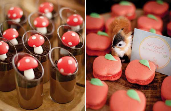 woodland creatures dessert table treats!