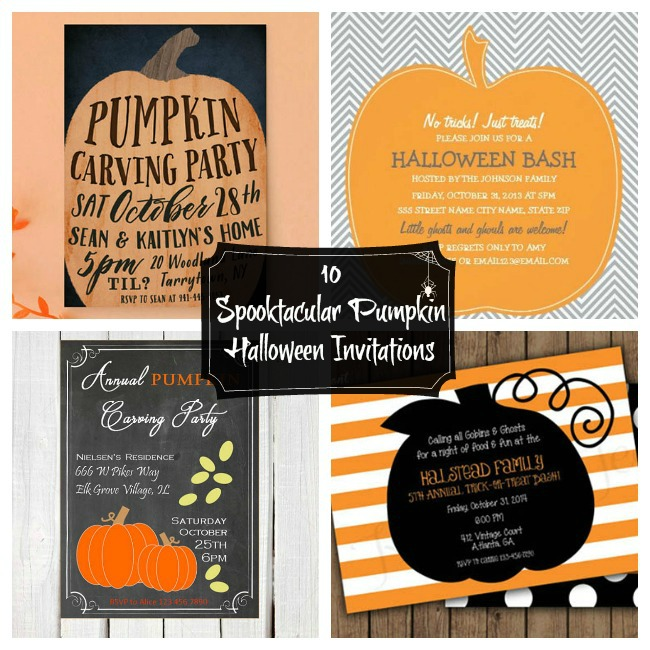 10 Spooktacular Pumpkin Halloween Invitations