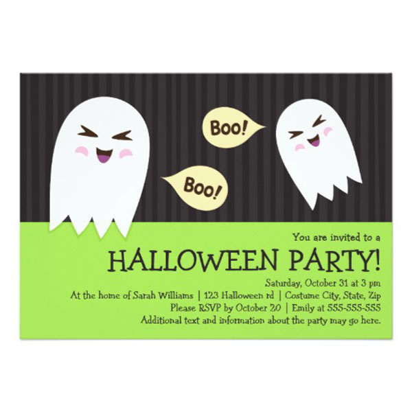Adorable Ghost Halloween Invitation