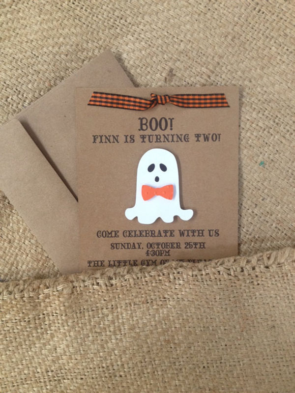 Adorable Ghost Invitation