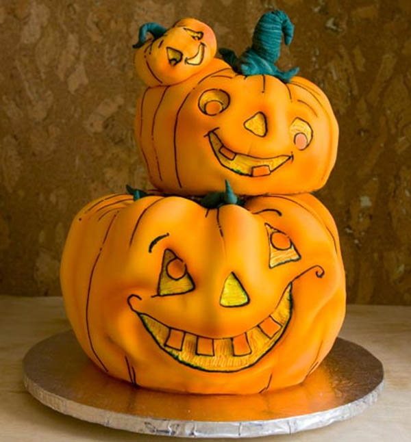 Adorable Pumpkin Cakes for Halloween!