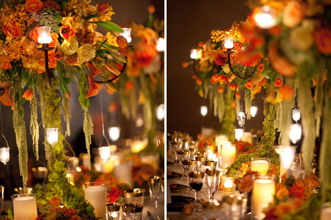 Beautiful fall wedding ideas b lovely events for Autumn flower decoration