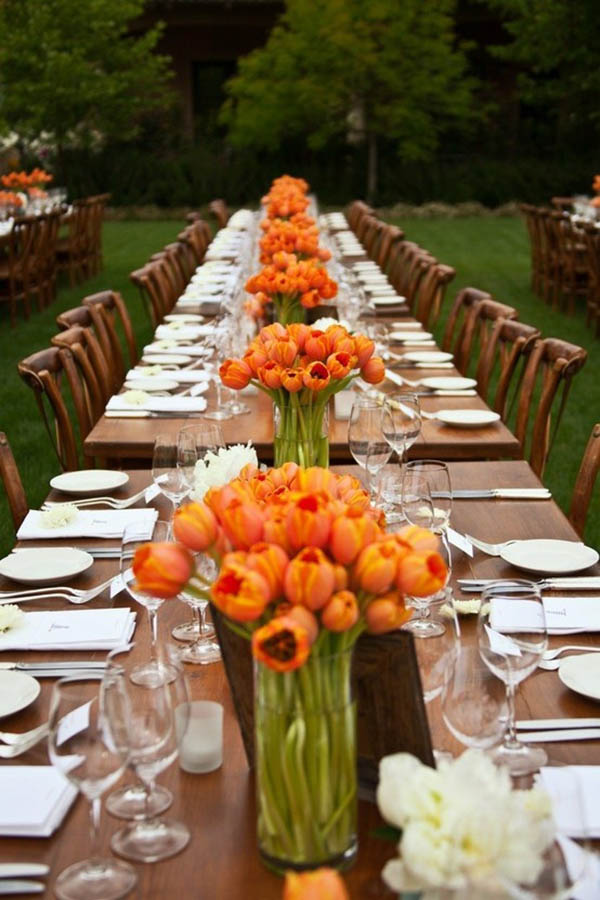 Beautiful Orange Tulips for A fall wedding