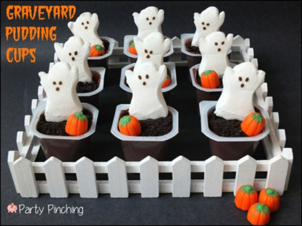 Fu pudding graveyard ghost cups