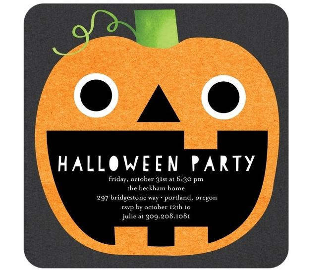 Fun Halloween Pumpkin Invitation