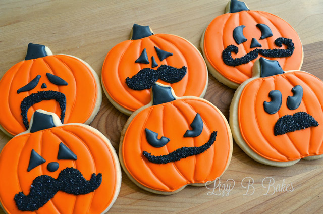 Fun Little Pumpkin Cookies With Mustaches!