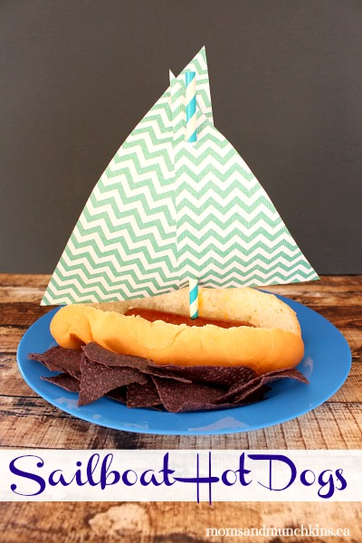 Fun Sailboat Hot dogs for a party!