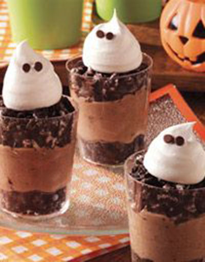 Halloween Ghost Pudding Cups!