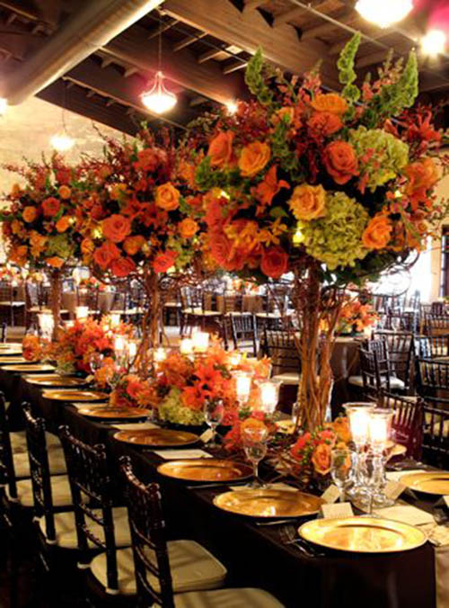 Large and abundant Fall Wedding centerpiece