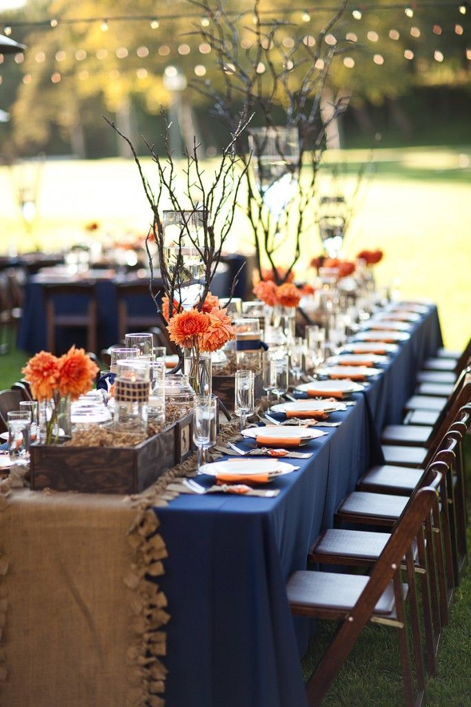 Love the dahlias in this Lovely Fall Wedding