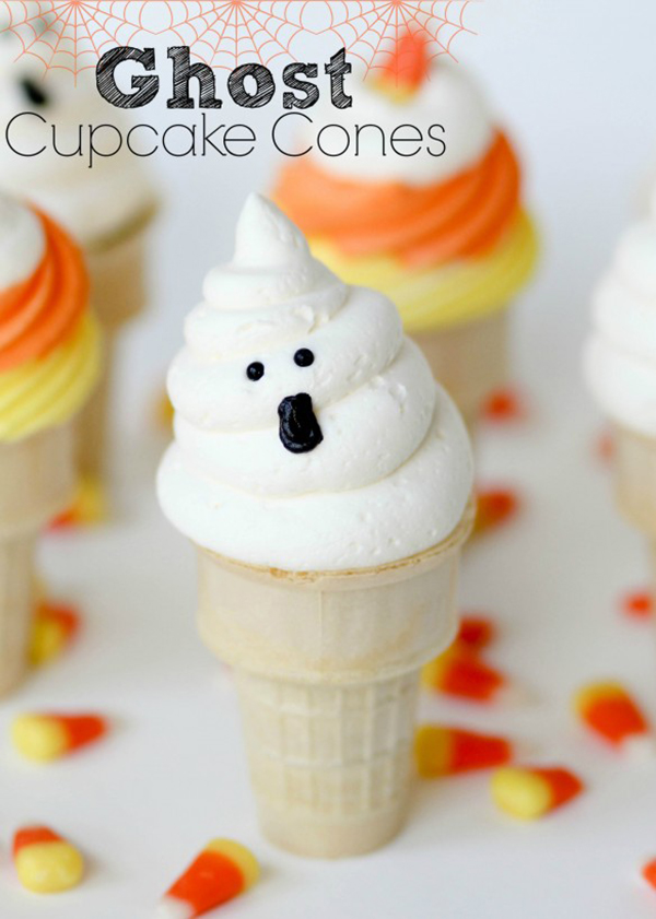 Love these Ghost Cupcake Cones!
