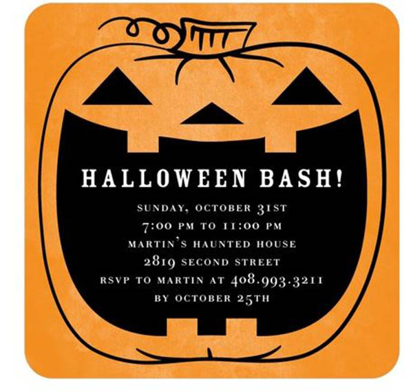 spooktacular halloween pumpkin invitations