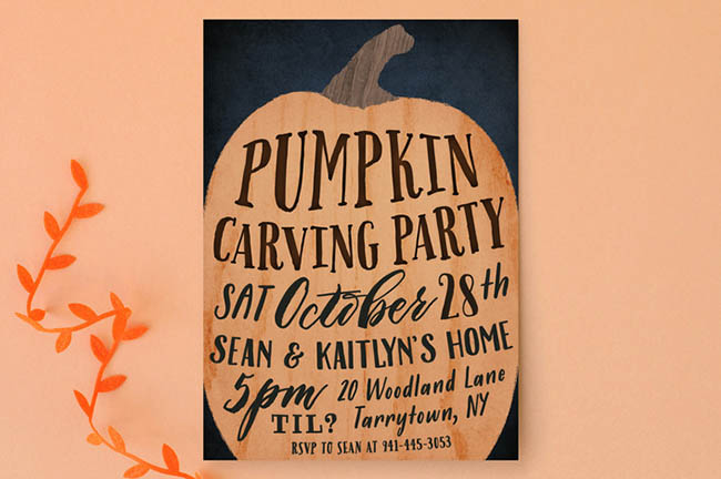 Love this Pumpkins Halloween Invitation!