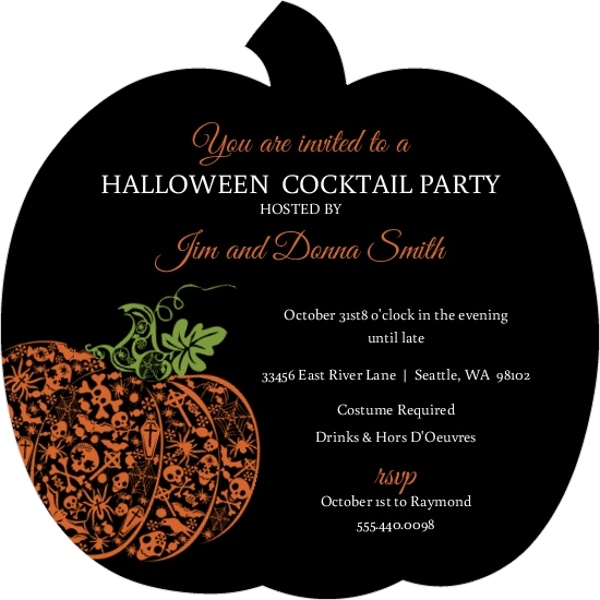 Love this silhouette Pumpkin Halloween Party Invite!