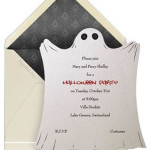 Lovely Ghost Halloween Party Invitation