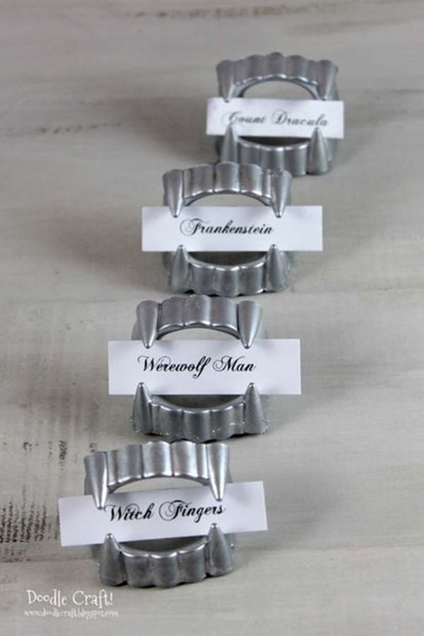 Silver Fang Escort Card holders!