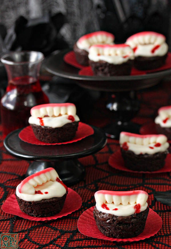 Vamprie brownie bites for Halloween- So lovely!