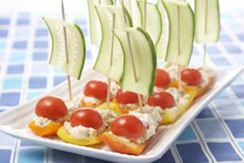 Veggie Tuna Boats- yum!