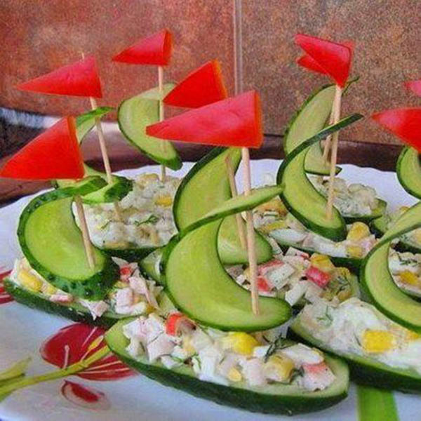 We Love these Cucumber boats for A party