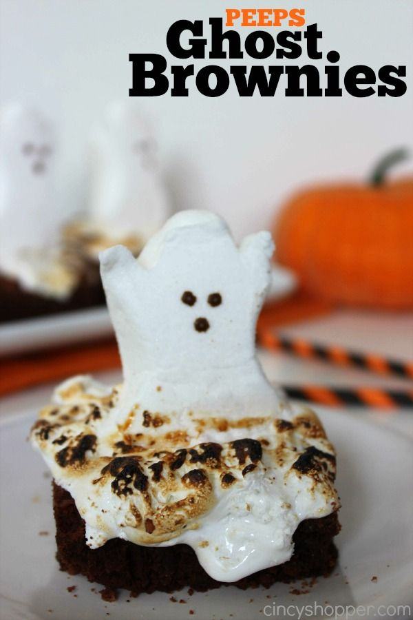Yum! Halloween Marshmallow Ghost Brownies!