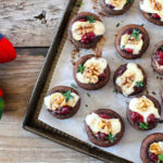 Cranberry & Brie stuffed Mushrooms- Perfect Appetizer for Thanksgiving