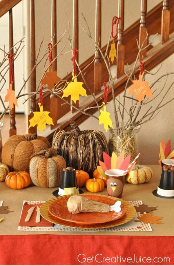 Cute & Fun Kids thanksgiving Table