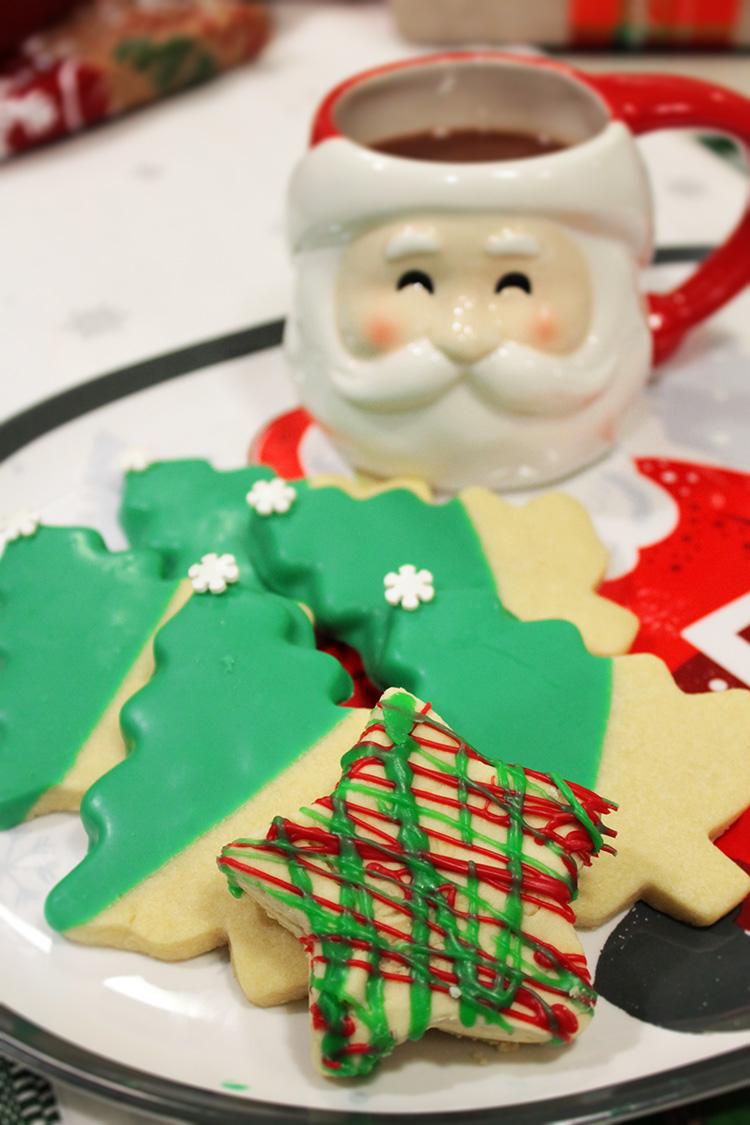 Festive Flavors-Peppermint Mocha Chocolate Shortbread Cookies