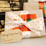 Gold polka Dotted wrapping ideas for Christmas