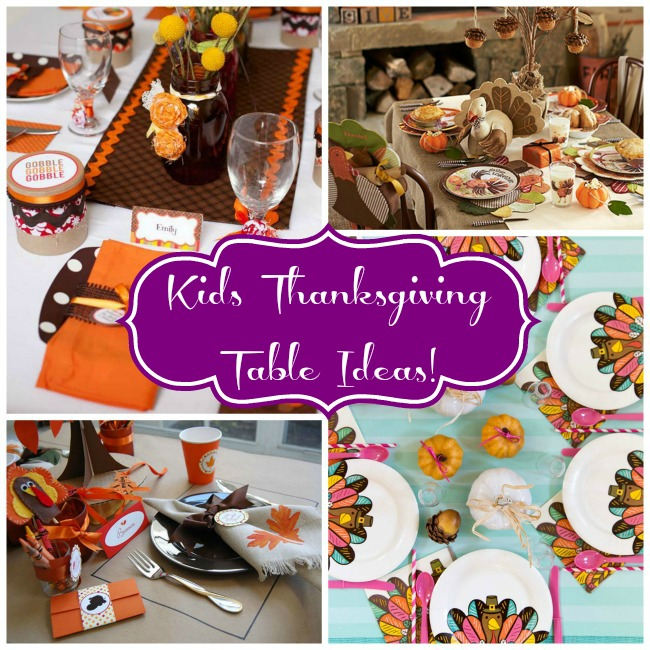 Kids Thanksgiving Table Ideas! - B. Lovely Events