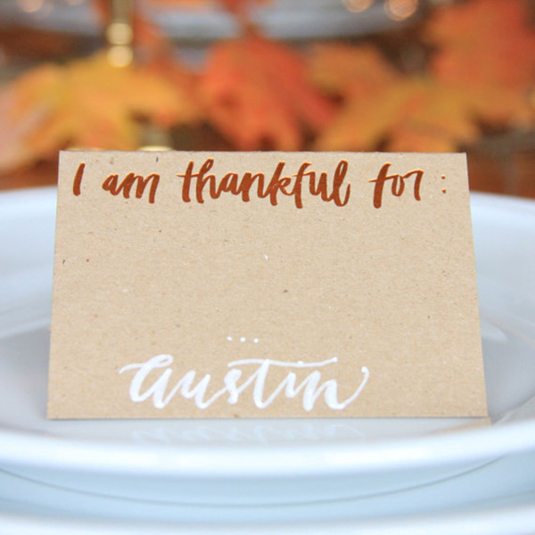 Love these place cards for Thanksgiving!