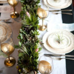 Love this Thanksgiving tablescape with succulents