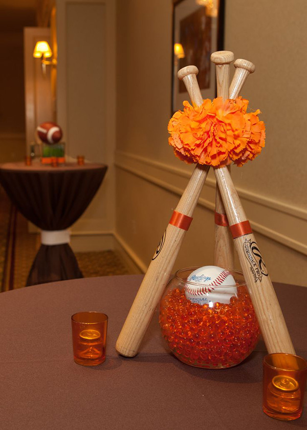 Love this baseball centerpiece