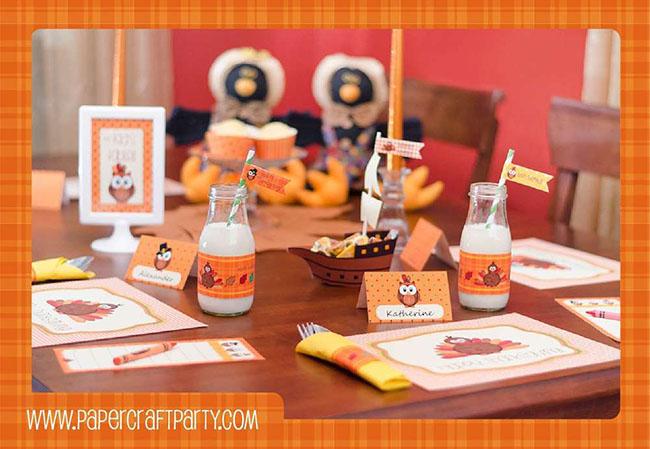 Love this cute Kids Thanksgivig table