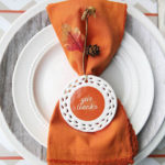 Lovely Give Thanks Napkin & Place Setting For Thanksgiving