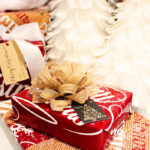 Lovely burlap wrapping from Zazzle