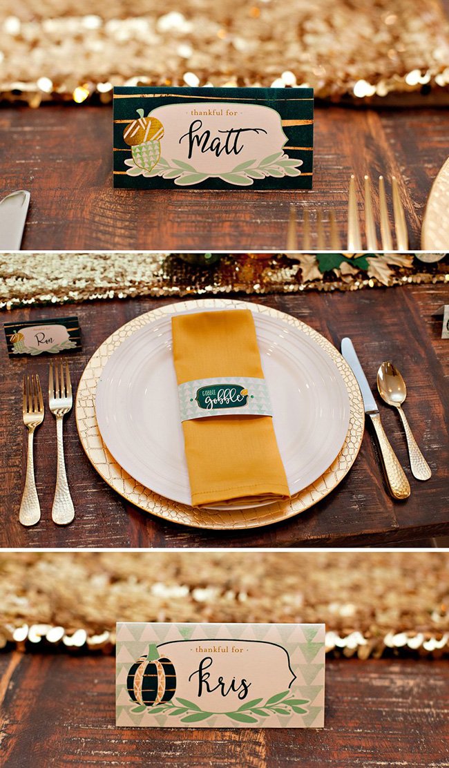 Modern Gold And Green Thanksgiving Free Printables!