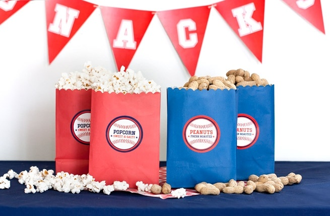 Peanuts & popcorn for a world series party!