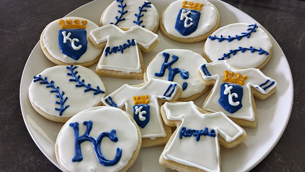 Royals wolrd series baseball party cookies!