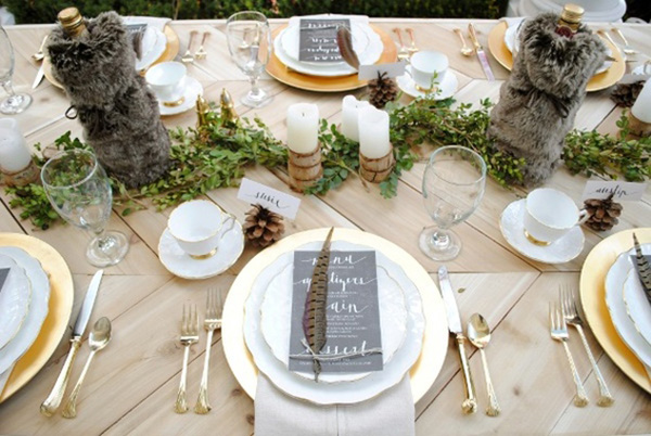 Rustic Thanksgiving Place Setting
