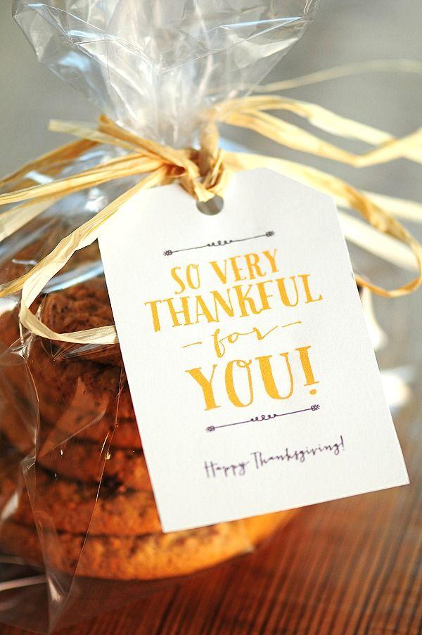 Thanksgiving Free printable tag!