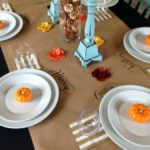 Thanksgiving Kraft Paper place settings