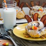 Turkey shaped Cinnamon Rolls- What a breakfast treat for Thanksgiving