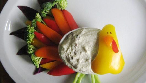 Veggie Turkey- Perfect Appetizer for Thanksgiving