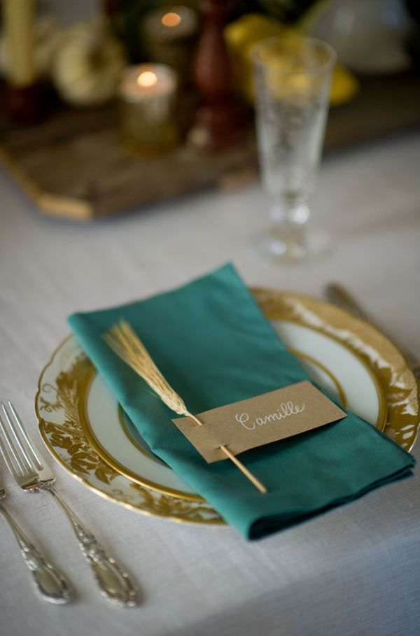 Wheat Place cards for Thanksgiving