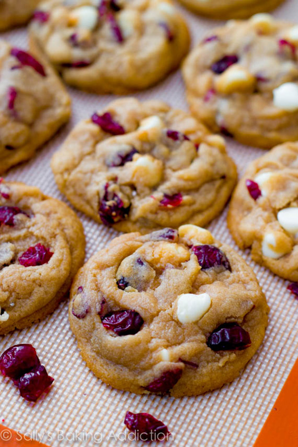 White-Chocolate-Cranberry-Cookies- Yum for Thanksgiving!