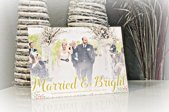Zazzle Just Married Holiday Cards- So cute