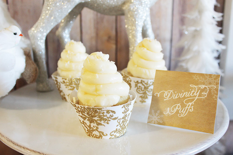 Divinity Puffed Cupcakes- B. Lovely Events