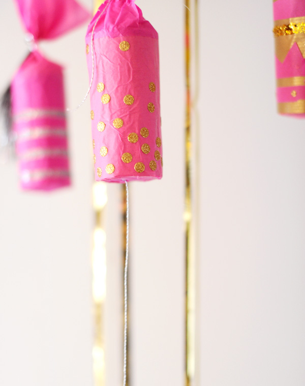 Gold Glitter New Year's Crackers!